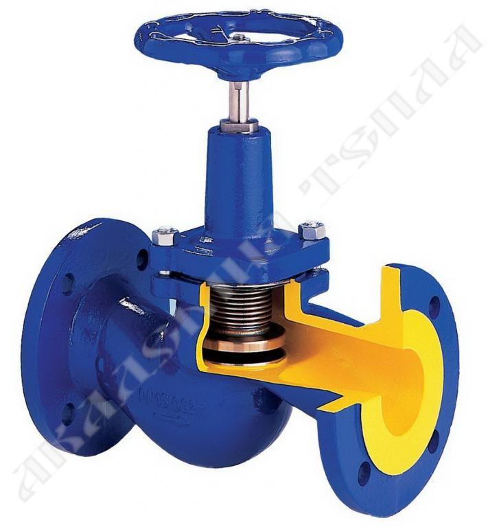 Клапан электромагнитный запорный сильфонный
