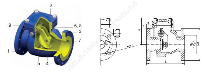 Клапан обратный V302-125